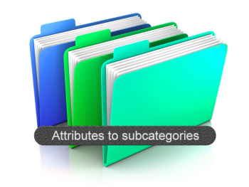 Allows you to convert your Attributes into sub-categories.